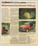 Article in Canadian Le Journal de l' Auto, May 2004